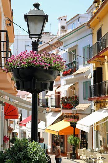 Calle de Marbella. Manugarcía Málaga,España Canon EOS 750D Canon_official SPAIN España🇪🇸 Spain♥ Manu García Manu Sol Sun Canonphotography Marbella Calle Street Farolas Flores Europa