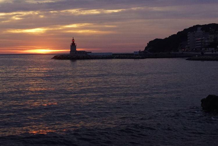 Sanary Sur Mer Sunset Phare Lighthouse