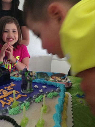 Blowing Out His Candles (: