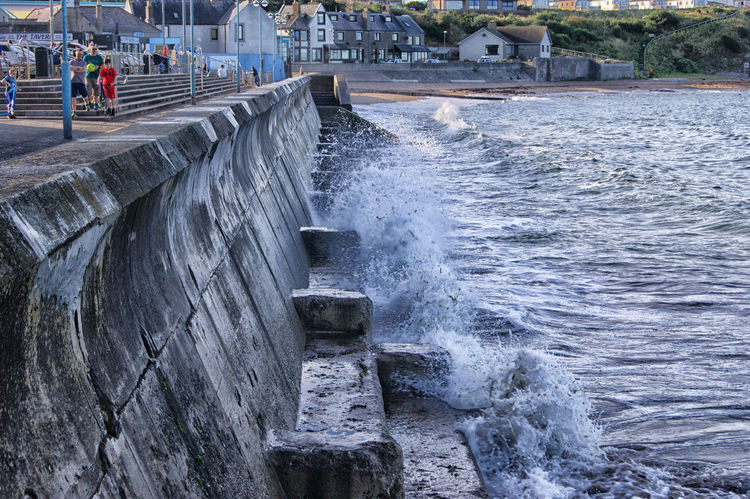 Waves at high tide #at The Seaside Day Hydroelectric Power Motion Nature No People Outdoors Power In Nature Splashing Water