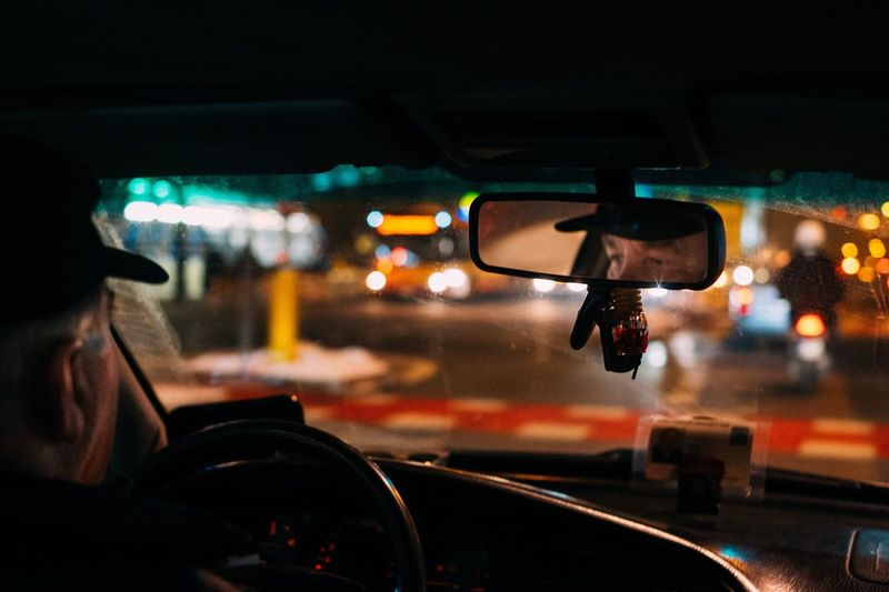 Night Worker Car Car Interior Road EyeEm Best ShotsWeekendd WeekOnEyeEm EyeEm Gallery 35mm Night Streetphotography Streetlights Travel Cab Photography