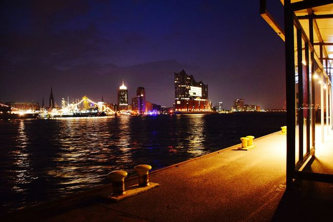 Nature Reflections In The Water River Elbe ♥️ Night Shot 🌒 Night Lights Night Photography Beauty In Nature Day Outdoors Focus On Foreground City Cityscape Urban Skyline Water Illuminated Skyscraper Nautical Vessel Downtown District Tall - High Harbor Marina