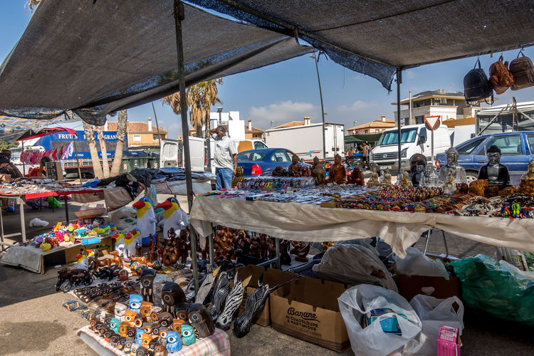 Market Retail  Market Stall Incidental People Day Small Business For Sale Choice Business Food And Drink Real People Container Sale Group Of People Food Beach Outdoors Retail Display Consumerism Street Market Messy Roquetas De Mar Street Market SPAIN Almería