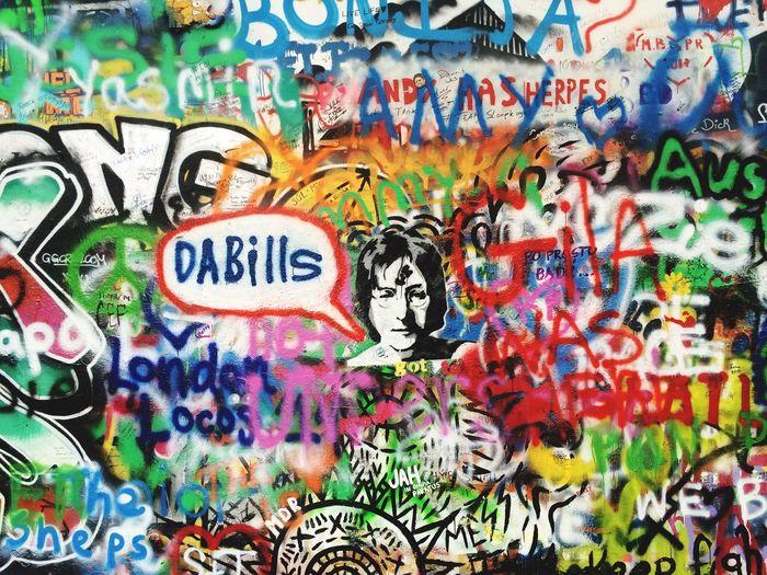 Lennon wall in Prague John Lennon Johnlennon Prague Wall Art ArtWork Colors Painting Music