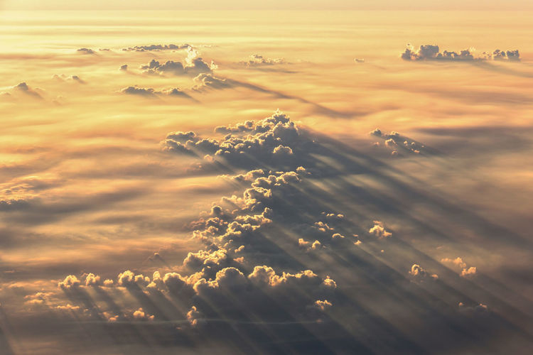 Beautiful view of sky and clouds at morning time.