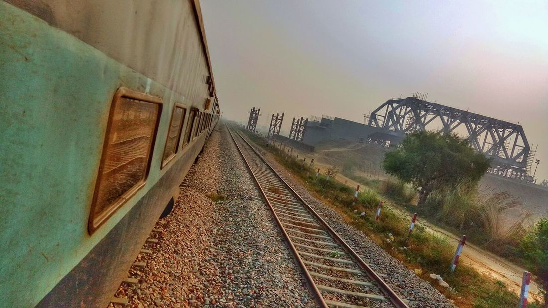 Perspectives On Nature Railroad Track No People Transportation Outdoors Day Sky Windowseatproject Indianrailways Indianrailwaysdiaries Incredibleindia Indiantourism My Best Travel Photo