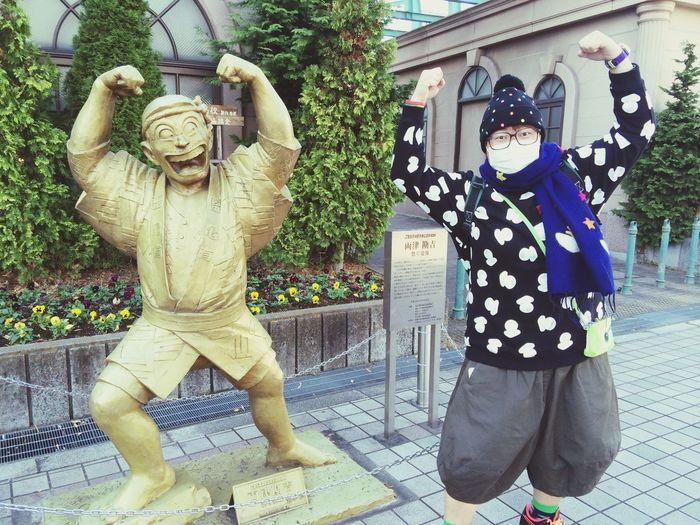 東京 日本 兩津勘吉 亀有 Kameari 阿兩 Funny Tokyo 冬天