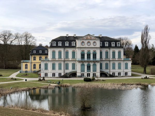 Schloss Wilhelmstal Architecture Building Building Exterior Built Structure Cloud - Sky Day House Lake Luxury Mansion Nature No People Plant Reflection Residential District Sky Tree Water Waterfront