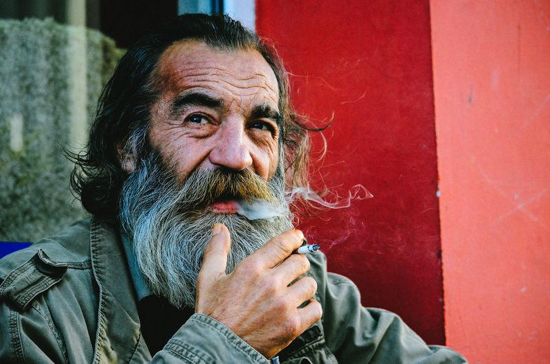 Beard Capture Cigarette  Close-up Day Headshot Lifestyles Moments Portrait Smoke Street Streetphotography Up Close Street Photography Fresh On Eyeem  The Street Photographer - 2016 EyeEm Awards The Portraitist - 2017 EyeEm Awards