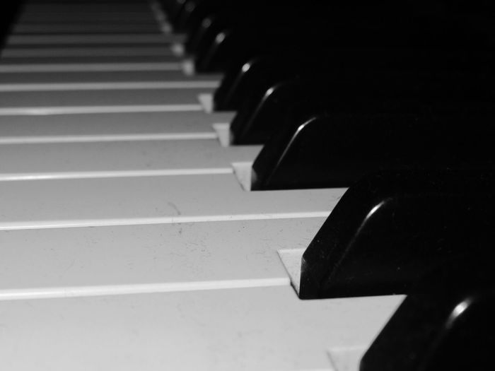 A piano. Black