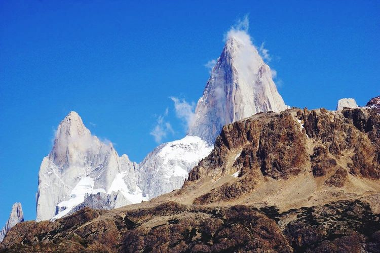 Fitzroy (null)Mountain Alpine Granite Peaks Spires Argentina Patagonia Clouds Landscape