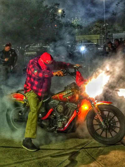 New grand opening for San Diego Harley Davidson ....... Special effects