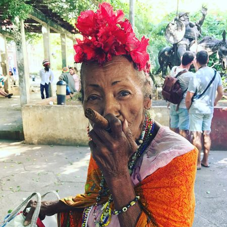 Lifestyles Outdoors Real People Havana, Cuba Cuba Habana Havana Havana Vieja Cuba Streets Cuba Cuban People Cuban Lady Cuban Cigar Day Color Explosion