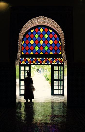 Arch Beautiful Blue Casual Clothing Colorful Day Design IAmGSPhotography Illuminated Leisure Activity Lifestyles Multi Colored 19th Century Bahia Palace Marrakesh Morocco Houses History Historical Building Window ColorPalette