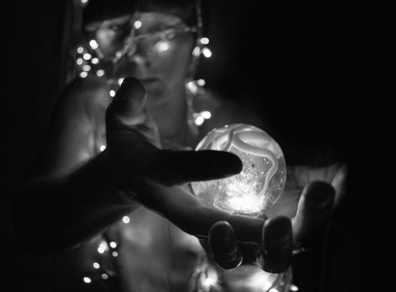Monochrome Portrait Black And White Monochrome Light In The Dark In Hands Light Ball Ball Mistery Self Portrait From My Point Of View By Ivan Maximov The Week on EyeEm Eyeem Photo Lightning Holding Human Hand Human Body Part One Person People Only Men Men Adults Only One Man Only Indoors  Adult Real People Close-up Love Yourself