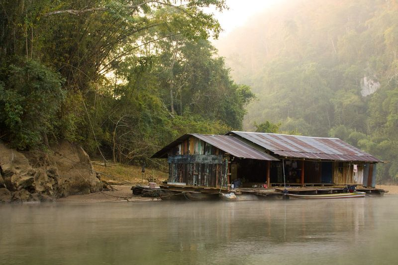Spotted In Thailand First Eyeem Photo Thailand Wooden House a house on the river in the dawn Dawn River River House Sunrise Sunrise_Collection Feel The Journey Original Experiences
