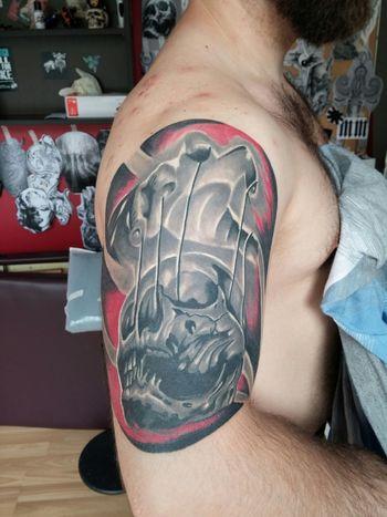 Tattoo Tattoos Inked Ink Tatts Tattooed Skull Charcoal #skull #art #artist #sketch #tattoo #tattooed #ink #inked #pencil #doodle #skin #skeleton #tattooedup #color #colour #cooltattoo #picture #picture #bones #skull Art #wallart #skulltattoo #skullhead #skullaholic