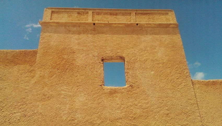 Taking Photos Hanging Out Building Exterior Geometry Building Morocco Old Architecture Historic History Traveling Travel Mazagan Old Buildings Sky Sky And Clouds Composition Windows Negative Space