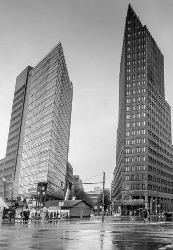 Forum Tower & KollhoffTower on Potsdamer Platz, Berlin Architecture Architecture_collection Berlin Blackandwhite Photography Bnw Bnw_collection Bnw_friday_eyeemchallenge Building Exterior Built Structure City Cityscape Outdoors Potsdamer Platz Skyscraper Urban Skyline