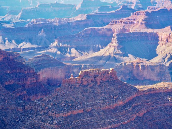 South Rim Grand Canyon Canyon Grand Canyon Mountain Landscape Environment Scenics - Nature Nature Beauty In Nature Day High Angle View No People Tranquility Mountain Range Tranquil Scene Non-urban Scene Land Aerial View Winter Full Frame Travel Destinations Outdoors