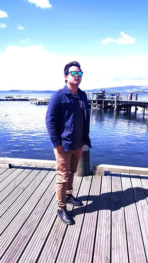 Sunglasses Sky Portrait One Person Cloud - Sky Looking At Camera Water first eyeem photo