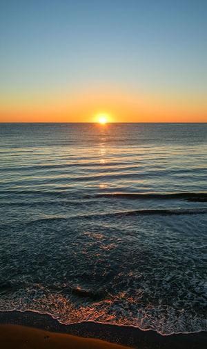 Sea sunrise on
