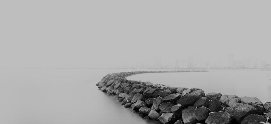2017 Breakwater EyeEm Best Edits EyeEm Best Shots Fog Harbour Long Exposure Long Exposure Photography Long Exposure Shot Minimalism Minimalist Nature Outdoors Rain Sea Seascape Water