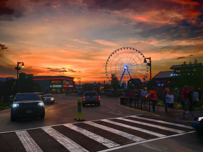 Nothing like a Smokey Mountain Sunset The Island Pigeon Forge, Tn Sunset Ferris Wheel