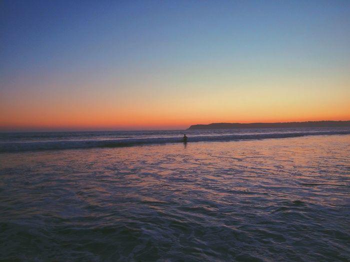 beach sunset IPhoneography Beach Sunset Beach Sunset Colors Beach Photography Dusk Waves Sunset Silhouettes EyeEm EyeEm Best Shots EyeEm Nature Lover EyeEm Best Edits EyeEm Gallery