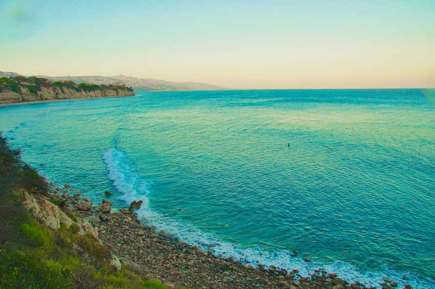malibu , california Sea Beach Water Nature Beauty In Nature Scenics Sand Horizon Over Water Outdoors Tranquility Travel Destinations Landscape Clear Sky Sky Vacations Summer Blue Sunset Day No People