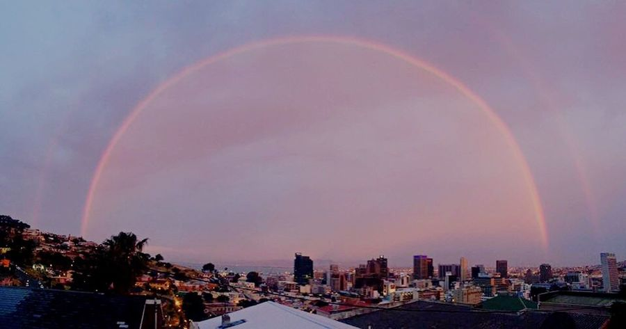 Rainbow in Cape Town!! City Sky Cityscape Beauty In Nature Urban Skyline South Africa Rear View Tranquility Outdoors