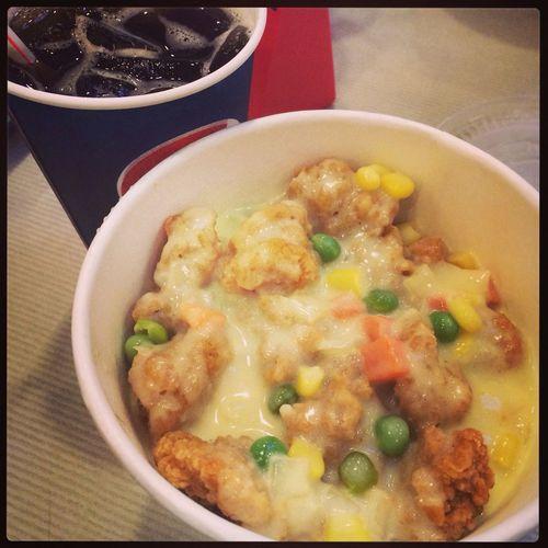 KFC RICE BUCKET!