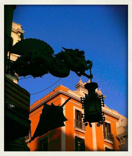 Silhouette Rambla Barcelona Dragon