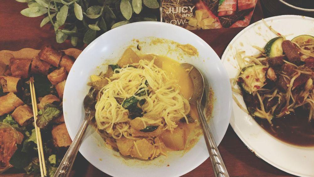 Thai Food Food Somtum Pu-plarha