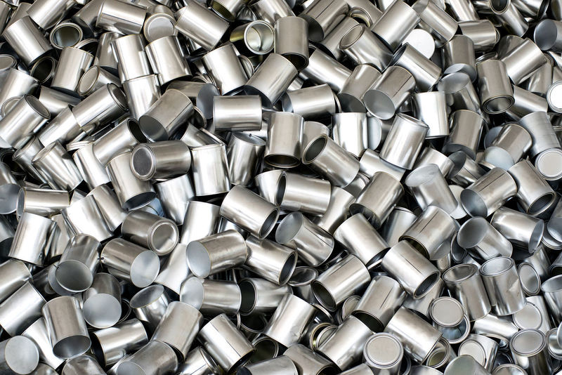 Background texture of empty silver unlabelled aluminium cans for packaging and food preservation, full frame overhead view Container Aluminium Aluminum Background Backgrounds Empty Food Full Frame Heap Industry Metal Metallic Packaging Preserving Shiny Silver  Silver Colored Storage Texture Textured  Tins Unlabelled