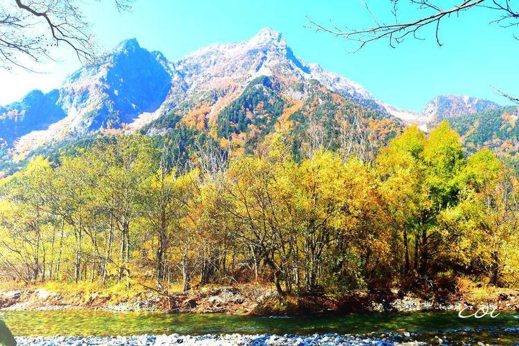 穂高岳を見上げて…ここを登れたら何か見つかるかもしれないなぁ。 Beautiful Landscape Autumn Colors 穂高連峰 Japan My Favorite  EyeEm Best Shots - Nature