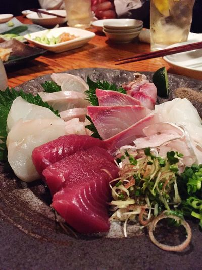 今日は新メンバーとの懇親会 Japanese Food Dinner Food Japanese Foods Sashimi Dinner