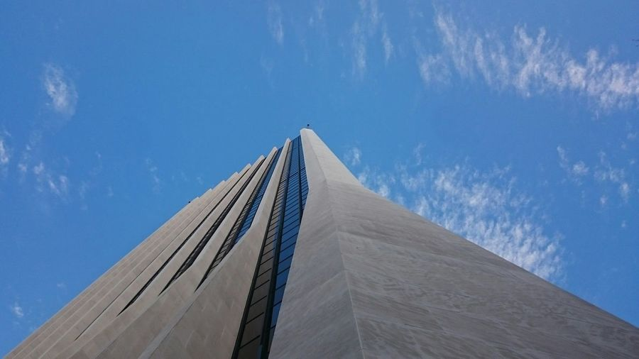Architecture Skyscraper Perspective Urban Landscape Urban Geometry Urban Perspectives Blue Sky Sky And Clouds Monolith Portland Downtown