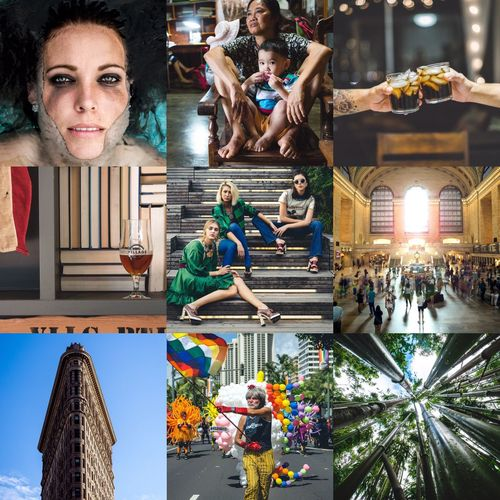 BEST OF 2016 1 of 3 Large Group Of People Arts Culture And Entertainment People Adults Only Indoors  Adult Only Women Day Collage Portrait Street Travel Art