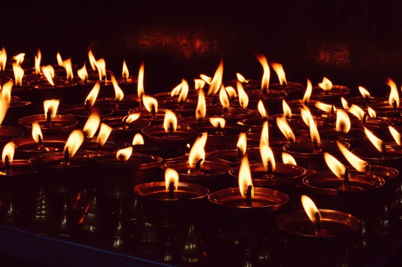 Butter lamps, buddhist monastery. Boudhanath, Nepal. December 2014 Nepal #travel Boudhisme Buddhist Temple Butterlamps