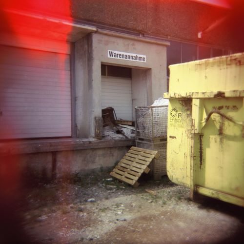 Container Ground Loading Ramp Lomography Outside Palette Vignette