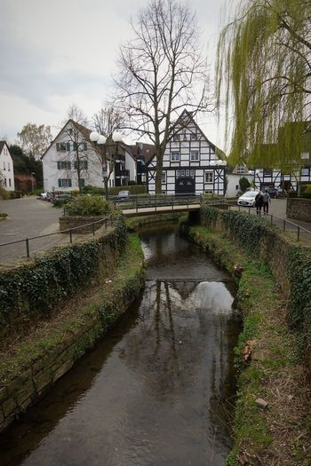Herdecker Bach Accidents And Disasters Architecture Bridge - Man Made Structure Built Structure Cityscapes Day Extreme Weather Framework Houses Herdecker Bach Natural Disaster Nature No People Old Town Outdoors Reflection Sky Stream - Flowing Water Tree Water