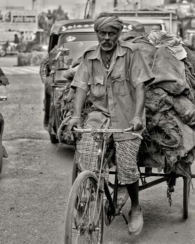 Adults Only Only Men Portrait One Person RikshawClick Men Bicycle Close-up