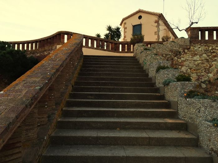 Architecture Built Structure Steps Costa Brava