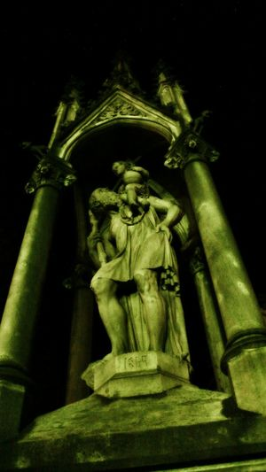 Statue Sculpture History No People Green Color Night Outdoors Close-up EyeEm Ready