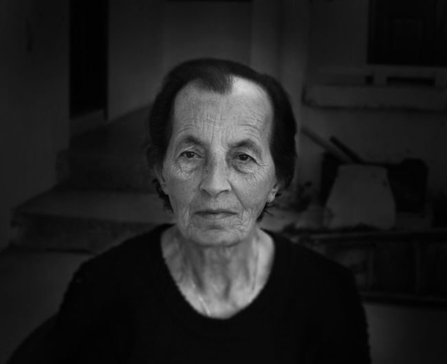 Adult Blackandwhite Elderly Family Front View Grandma Grandparents Headshot Home Human Body Part Human Eye Looking At Camera Love Nostalgia Old Woman One Person Only Men People Portrait Real People Retirement Sadness Senior Adult Tired Wrinkles