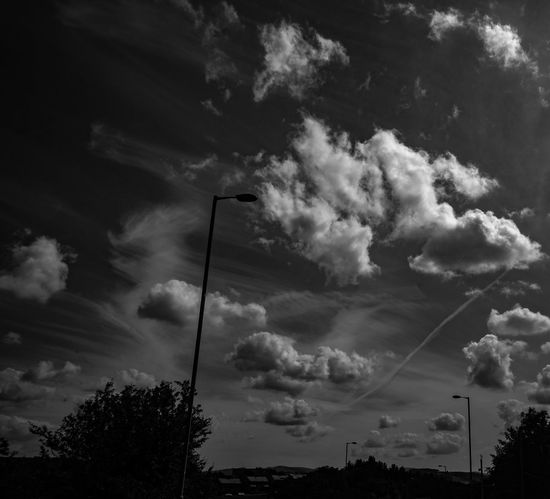 Beauty In Nature Clouds And Sky Colour And Black And White Look Up Nature Outdoors Sky Tranquility