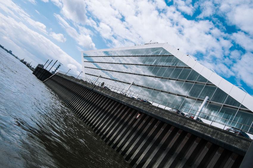 Hamburg Architecture Building Exterior Built Structure Cloud - Sky Day Dockland Hamburg Hamburg Harbour Low Angle View No People Outdoors Sky
