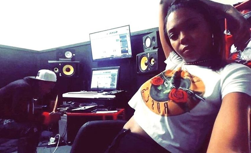 In the studio producing new music for TaleshaByrd Music Musician Producer Rapper Singer