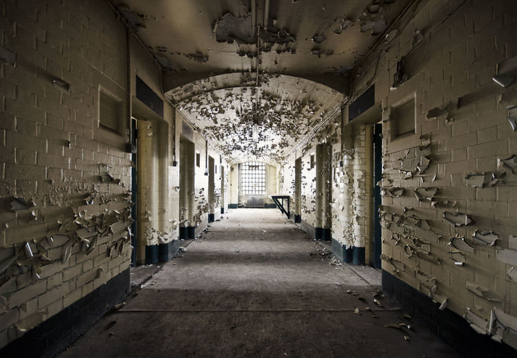 Interior Of Abandoned Prison